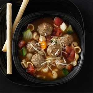 Vegetable Meatball Soup