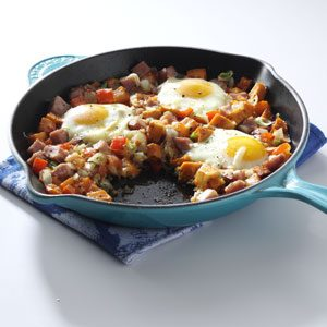 Sweet Potato and Ham Hash