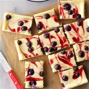 Red, White & Blue Cheesecake Bars Recipe