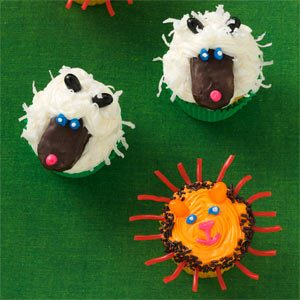 Lion and Lamb Cupcakes
