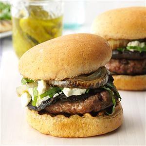 Feta Mushroom Burgers Recipe