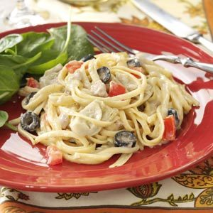 Mediterranean Tuna Linguine Recipe