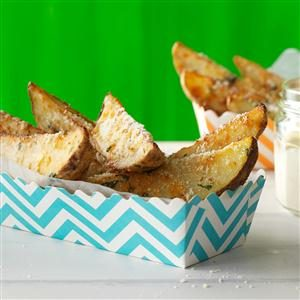 Parmesan-Romano Potato Wedges Recipe