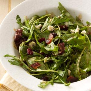 Mixed Greens with Bacon & Cranberries Recipe