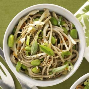 Soba Noodles with Ginger-Sesame Dressing