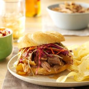 Menu #3 Entree: Sweet & Spicy Pulled Pork Sandwiches