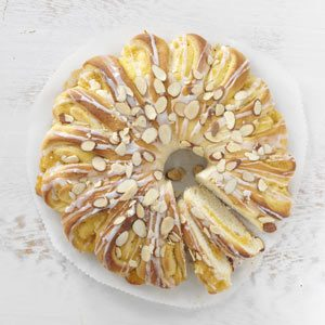 Apricot-Almond Tea Rings Recipe