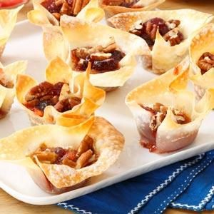 Cranberry-Pecan Brie Cups Recipe