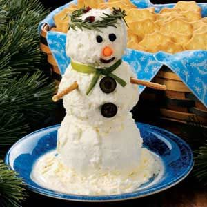 Snowman Cheese Spread Recipe