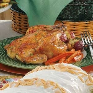 Cornish Hens with Veggies Recipe