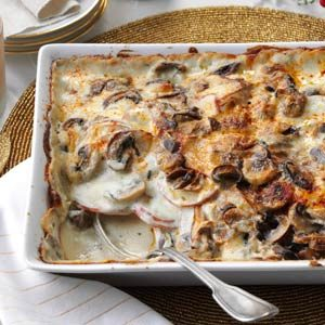 Mushroom-Gruyere Scalloped Potatoes Recipe