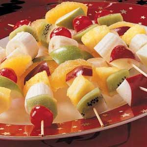 Christmas Fruit Kabobs Recipe