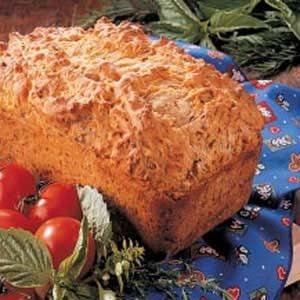 Herbed-Tomato Cheese Bread Recipe