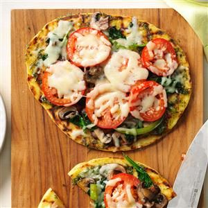 Grilled Flatbread Veggie Pizza Recipe