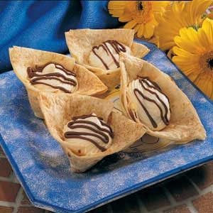 Tortilla Dessert Cups Recipe