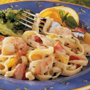Basil Shrimp Fettuccine Recipe