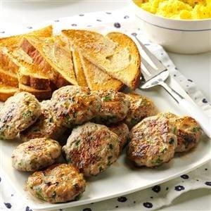 Apple-Sage Sausage Patties Recipe | Taste of Home