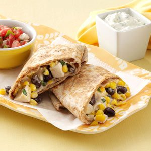 Skillet Chicken Burritos