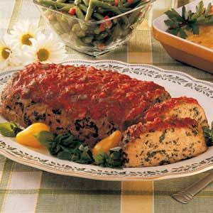 Turkey Spinach Meat Loaf Recipe