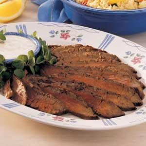 Flank Steak with Horseradish Sauce