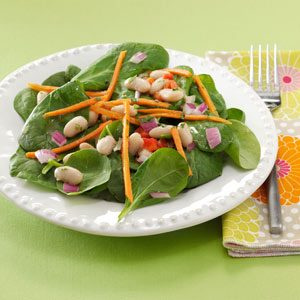 White Bean and Spinach Salads Recipe