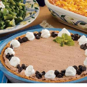 Frozen Chocolate Cream Pie Recipe