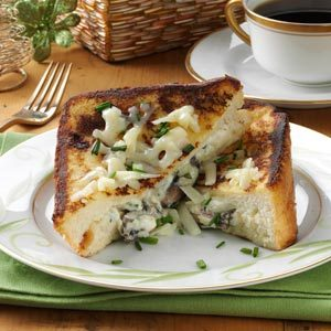 Mushroom-Herb Stuffed French Toast Recipe