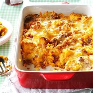 Mexican Sausage & Corn Bread Strata Recipe