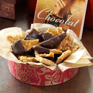 Chocolate-Dipped Lavender Pine Nut Brittle Recipe