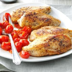 Balsamic Chicken with Roasted Tomatoes Recipe