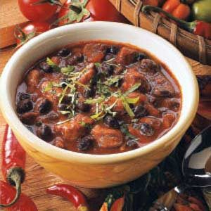 Bold Bean and Pork Chili Recipe