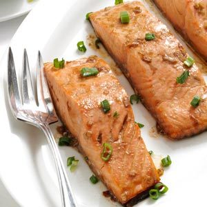 Maple Teriyaki Salmon Fillets Recipe