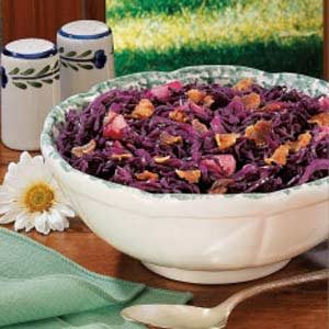 Sweet-Sour Red Cabbage with Bacon Recipe