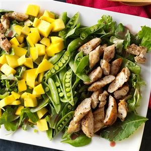 Mango & Grilled Chicken Salad Recipe