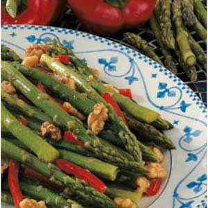 Asparagus Nut Stir-Fry Recipe
