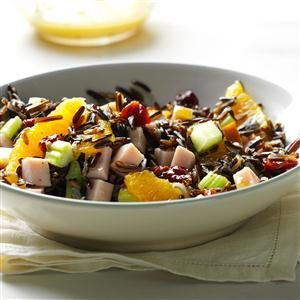 Orange-Wild Rice Salad with Smoked Turkey Recipe