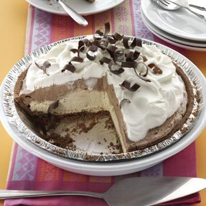 Mocha Java Pie with Kahlua Cream