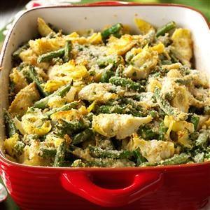 Italian Artichoke-Green Bean Casserole Recipe