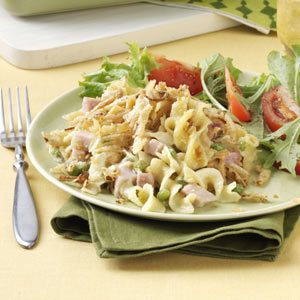 Double-Duty Ham & Noodle Bake
