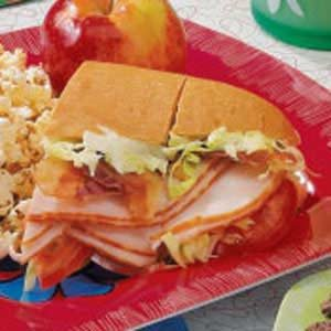Guacamole Turkey Subs Recipe