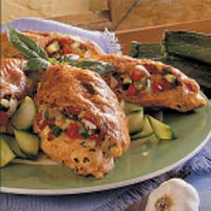 Zucchini-Stuffed Chicken Recipe