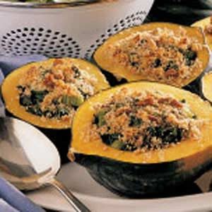 Acorn Squash with Spinach Stuffing Recipe