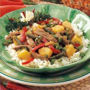 Pineapple Beef Stir-Fry Recipe