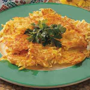 Swiss Cheese Potato Pancakes Recipe