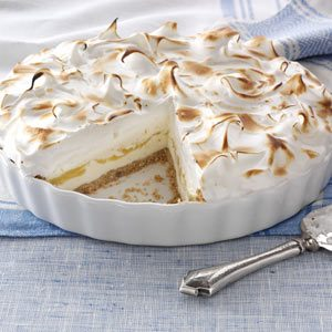 Lemon Meringue Ice Cream Pie Recipe photo by Taste of Home