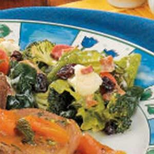 Veggie Spinach Salad Recipe