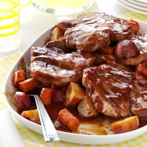 Barbecued Pork Chop Supper Recipe