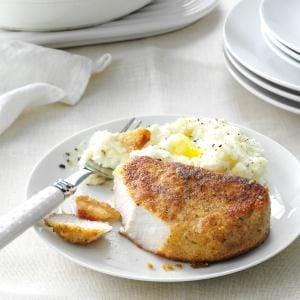 Parmesan-Breaded Pork Chops Recipe