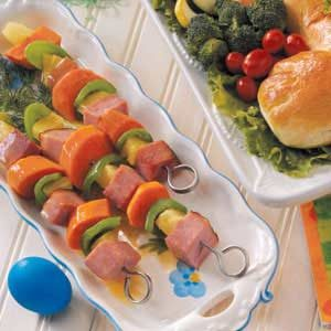 Holiday Ham Kabobs Recipe