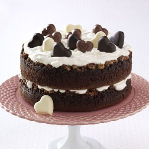 Chocolate-Praline Layer Cake